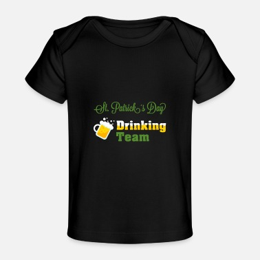 Day St Patricks Day som dricker laget - Ekologisk T-shirt baby