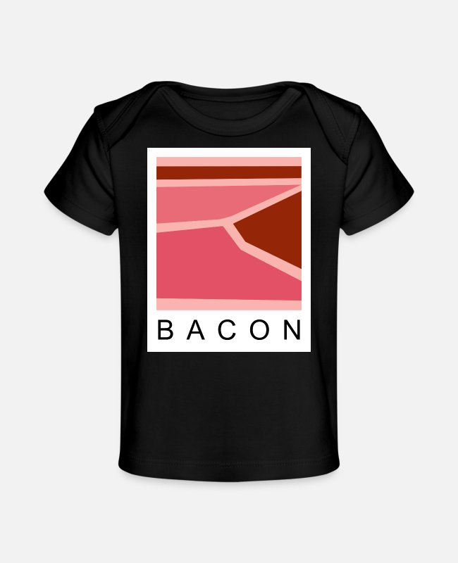 Lecker Baby T-Shirts - Bacon - Baby Bio-T-Shirt Schwarz