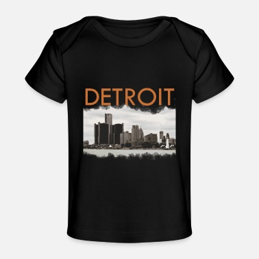 Michigan Detroit Michigan Skyline - Økologisk T-shirt til baby