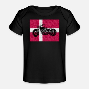 Motor Race Denmark motorcycle tuning mechanic chopper - Organic Baby T-Shirt