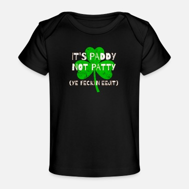 Feckin Feckin Eejit Distressed for St Paddy's Day - Organic Baby T-Shirt
