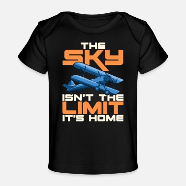 Woordspeling The Sky Isn't The Limit It's Home Funny Pilot Pun - Baby bio-T-shirt