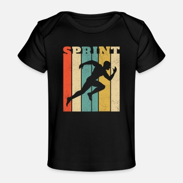 Sprint Conception de sprint rétro pour un sprinter - SPRINT - T-shirt bio Bébé