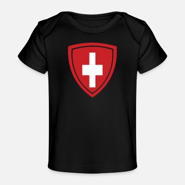 Country Switzerland Badge - Baby Bio-T-Shirt