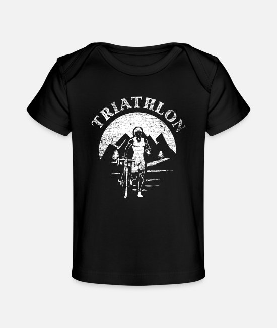 Competition Baby T-Shirts - Triathlon sport - Organic Baby T-Shirt black