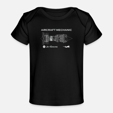 Flight Data Recorder Aircraft Mechanic - Jet Engine - Organic Baby T-Shirt