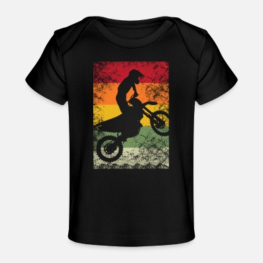 Quad Motocross Dirtbike Dirt Bike Cross rider Braap - Camiseta orgánica para bebé