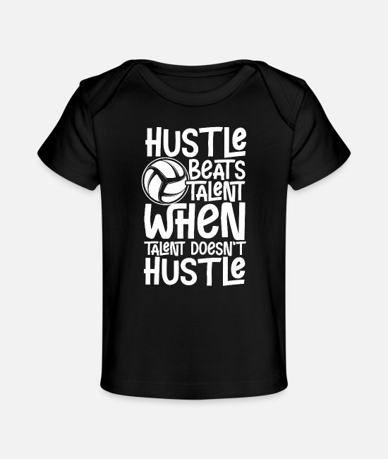 Passed Baby T-Shirts - Hustle beats talent | Gift for champions - Organic Baby T-Shirt black