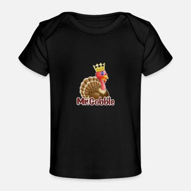 Pommel-wobbel-hemd Herr Gobble Happy Thanksgiving Day Türkei Kinder - Organic Baby T-Shirt