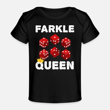 Click Farkle Queen Funny Dice Game Night graphic - Organic Baby T-Shirt