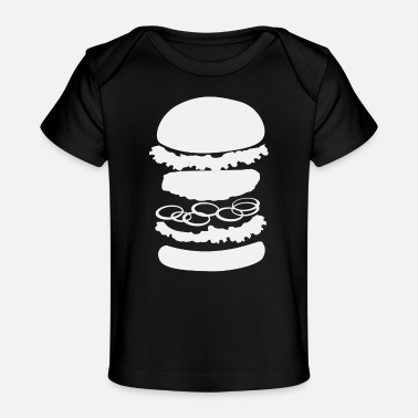 Junk Burger | Burgers Cheeseburger Hamburger Patty Bun - Organic Baby T-Shirt