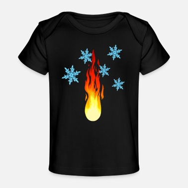 Fire And Ice Fire and ice nature environment elements - Organic Baby T-Shirt