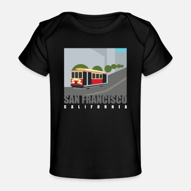Francisco San Francisco Cable Car Design for - Organic Baby T-Shirt