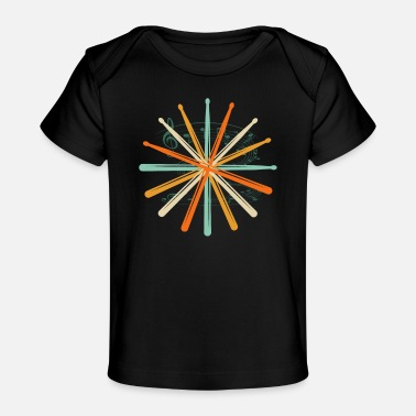 Musical Drums drumsticks gift - Organic Baby T-Shirt