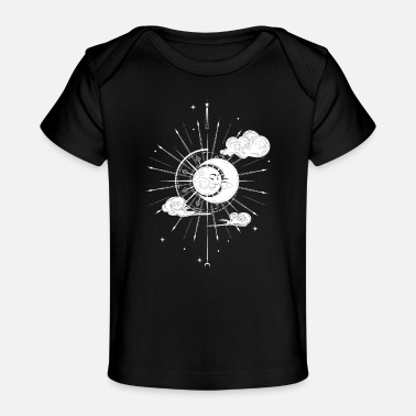 Sleeping Sun and Moon Night - Organic Baby T-Shirt