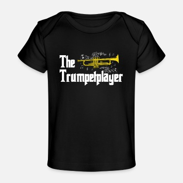 Trumpet Player Trumpet Musical Instrument Fasnacht Wind Music Music - Organic Baby T-Shirt