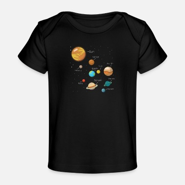 Cool Universe Planet Galaxy Comic Cool gave - Økologisk baby-T-skjorte
