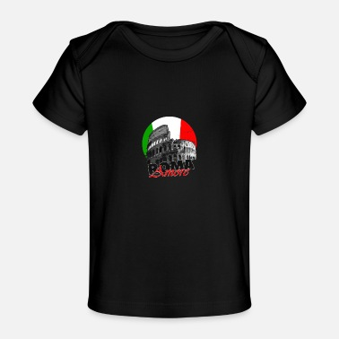 Tradition Roma Roma flag Italie - T-shirt bio Bébé