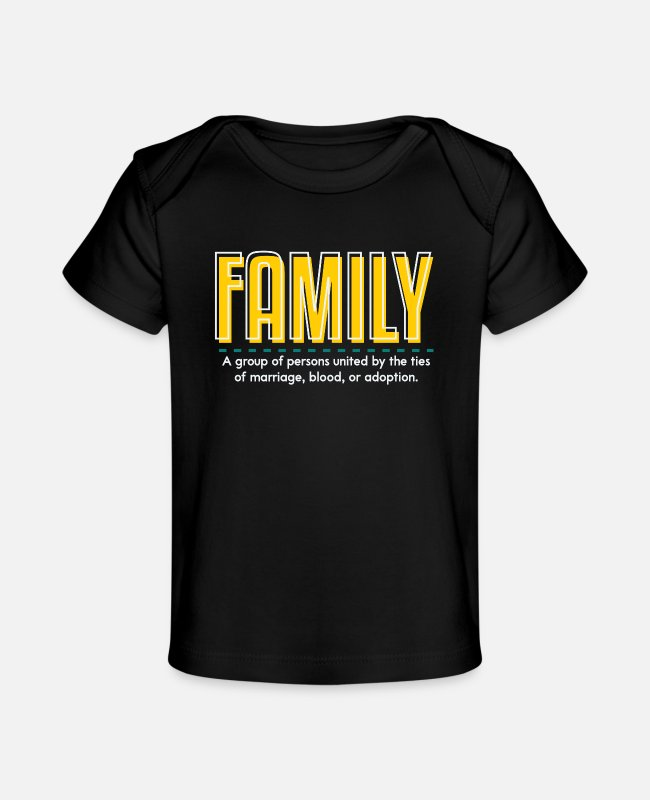 Family Trip Baby T-Shirts - Family is family - Organic Baby T-Shirt black