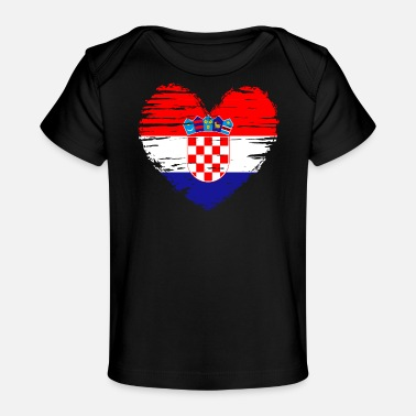 Croatia heart flag flag coat - Organic Baby T-Shirt