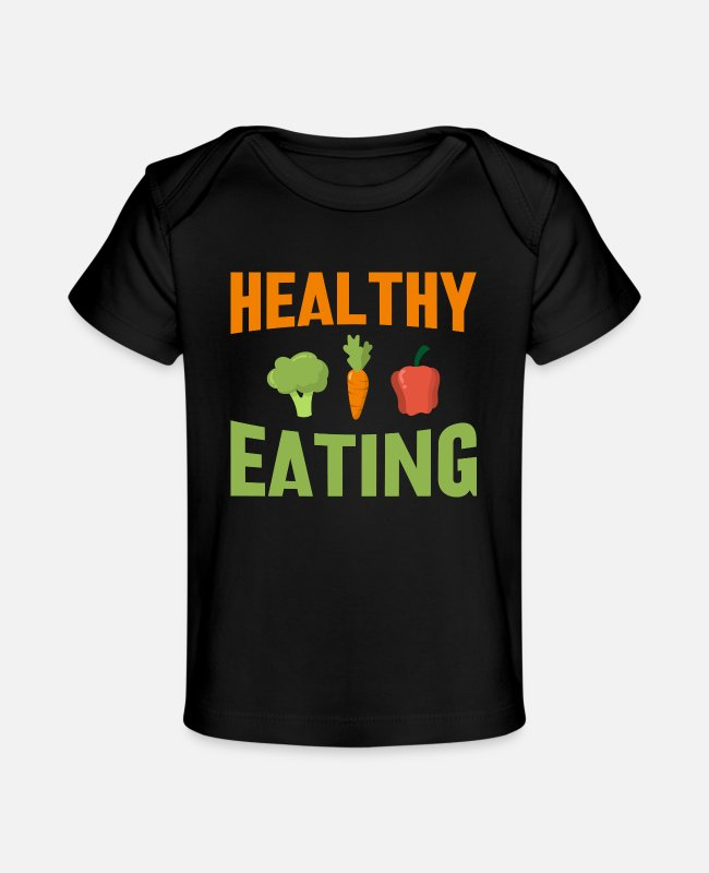 Animal Abuse Baby T-Shirts - Healthy eating - Organic Baby T-Shirt black