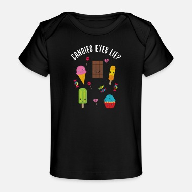 Candy Candy woordspeling - Baby bio-T-shirt