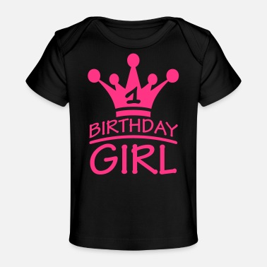 Happy Birthday Girl 1 Year Logo - Baby bio-T-shirt