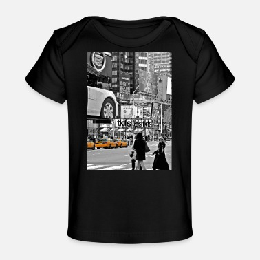 Apple NYC Yellow Cabs T-Square - Organic Baby T-Shirt