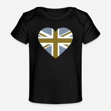Shape Underwear Heart Britain - Organic Baby T-Shirt