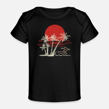 Surfing surfing gifts surfing accessories retro surf wave - Baby Bio-T-Shirt