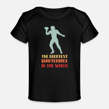 Kick Vintage Retro Quarterback American Football - Baby Bio-T-Shirt