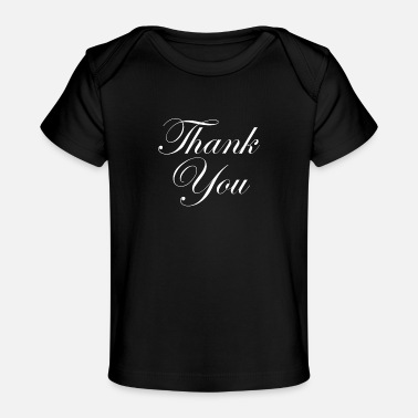 Party Wedding Word Art Thank You - Organic Baby T-Shirt