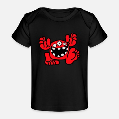 Proud To Be A Monster Cartoon by Cheerful Madness! - Organic Baby T-Shirt