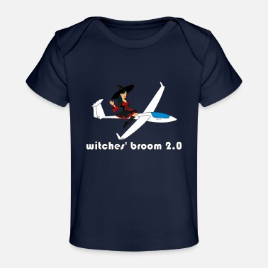 Pilot witches broom glider pilot - Organic Baby T-Shirt