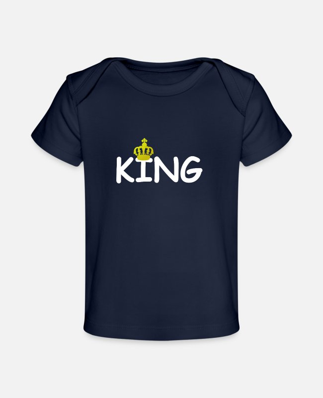 New Baby T-Shirts - King King - Organic Baby T-Shirt dark navy