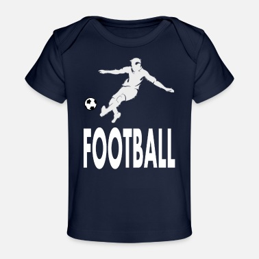 Play Soccer Soccer players play soccer - Organic Baby T-Shirt