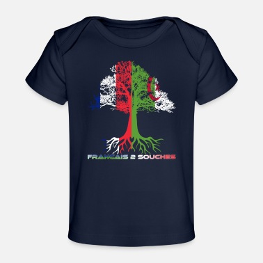 Strained French Two Strains - Organic Baby T-Shirt