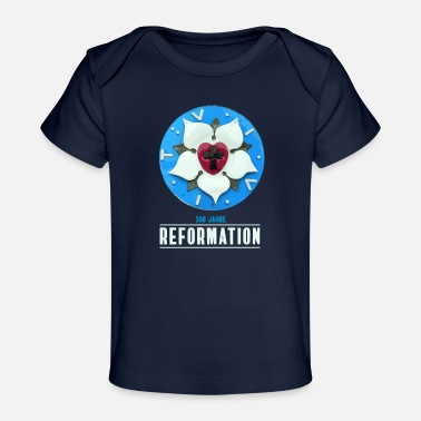 Bête Luther rose Reformation 500 church day theses bete - Organic Baby T-Shirt