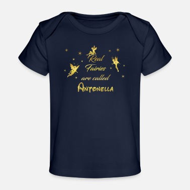 Antonella fee fairies fairy vorname name Antonella - Baby Bio-T-Shirt