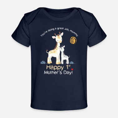 Day Happy first Mother´s Day - Giraffe - Baby Bio-T-Shirt