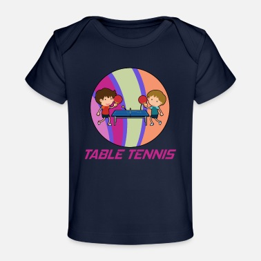 Table tennis hobby in a circle - Organic Baby T-Shirt