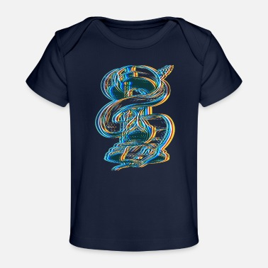 Psychedelic Snake Time Psychedelic Art - Organic Baby T-Shirt