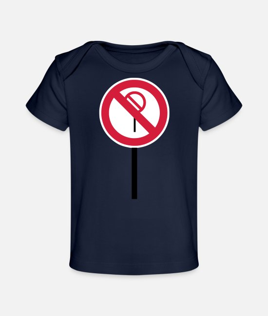 "Red Baby T-Shirts - Sign ""Prohibitions prohibited"" - Organic Baby T-Shirt dark navy"