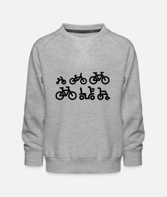 Birthday Hoodies & Sweatshirts - Evolution mountain bike MTB ATB biking bicycle - Kids' Premium Sweatshirt heather grey