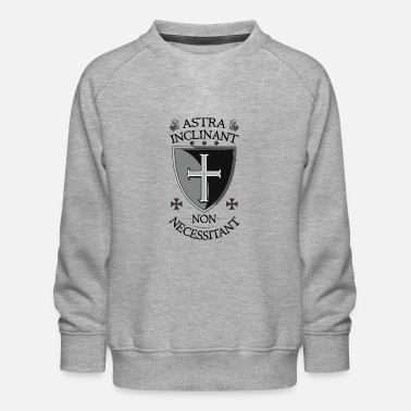 Shield Crusader Shield + Astra Inclinant Non Necessitant - Kids' Premium Sweatshirt