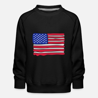 Flag American Flag 3 colours paint - Kids' Premium Sweatshirt