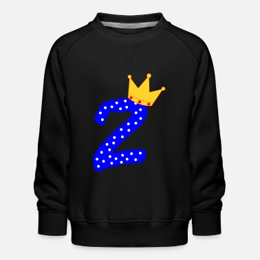 2nd birthday two second number children - Kids' Premium Sweatshirt