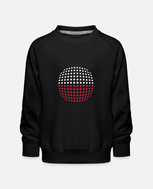 Cute Hoodies & Sweatshirts - Poland flag (Dotted) - Kids' Premium Sweatshirt black
