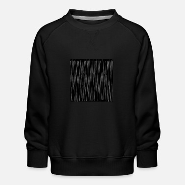 Pinstriping Pinstripe pattern black and white, woman - Kids' Premium Sweatshirt