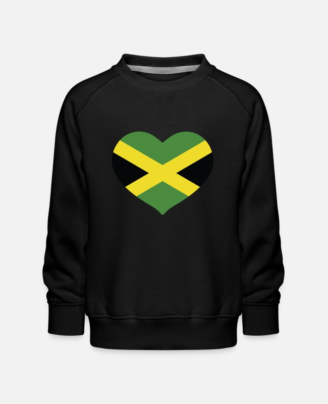 English Hoodies & Sweatshirts - HEART JAMAICA - Kids' Premium Sweatshirt black